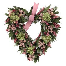 Pinking of You Heart Wreath