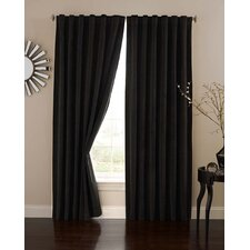 Absolute Zero Velvet Rod Pocket Blackout Home Theater Curtain Single Panel