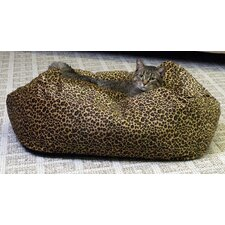 Leopard Cuddle Cube Cat Bed