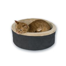 "16"" Heated Cat Bed in Mocha"