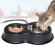 Thermo-Kitty Café Double Cat Bowl