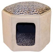 Kitty Sleep House in Tan and Leopard