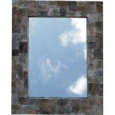 Spiegel aus Lavastein