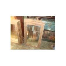 Spiegel klein aus recyceltem Holz