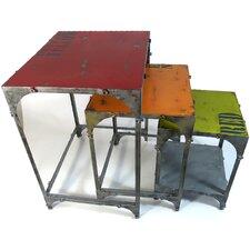 3-tlg. Beistelltisch Set aus Metall