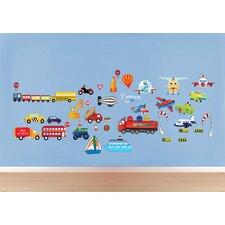 Peel and Play Cars/Planes Wall Decal