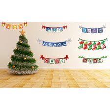 Peel and Play Holiday Winter Signs Wall Decal