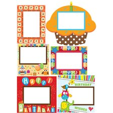 <strong>Mona Melisa Designs</strong> Peel and Stick Birthday Frame Wall Decal