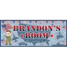 Patriotic Boy Name Sign