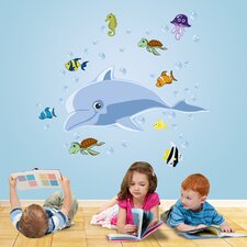 Really Big Dolphin Wall Decal Set
