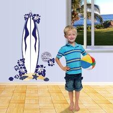 Really Big Surfboard Boy Wall Decal Set