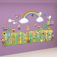 Peel and Play Flower Garden Wall Decal