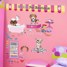Peel and Play Pet Boutique Wall Decal