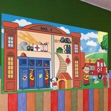 Fireman Boy Wall Mural