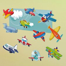 Peel and Play Planes Wall Decal
