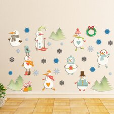 <strong>Mona Melisa Designs</strong> Peel and Play Snowman Wall Decal