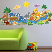 Peel and Play Dinosaur Plus Wall Decal
