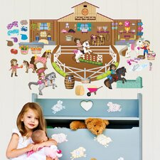 Peel and Play Horse Girl Wall Decal Play Set