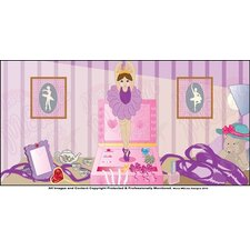 Ballerina Girl Wall Mural