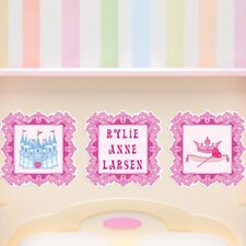 3 Piece Princess Picture Frame Wall Decal Set