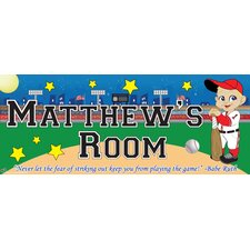 Baseball Boy Name Wall Plaque