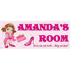 Fancy Girl Name Wall Plaque