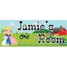 Farm Girl Name Wall Plaque