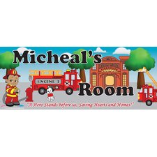 Fireman Boy Name Wall Plaque