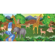 Giraffe Girl Wall Mural