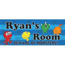 Monster Boy Wall Plaque