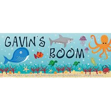 Ocean Boy Name Wall Plaque