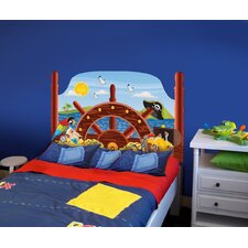 Peel and Stick Pirate Panel Headboard