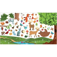 Peel and Play Forest Wall Play Set