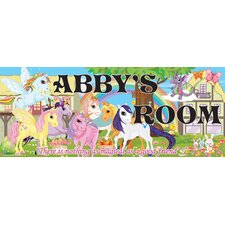 Pony Name Wall Plaque