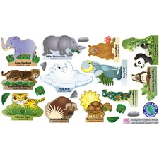 Peel and Learn Endangered Species Wall Stickers