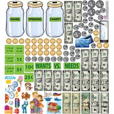 Peel and Learn Money Wall Stickers