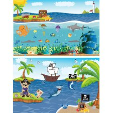 <strong>Mona Melisa Designs</strong> Peel and Play Travel Ocean Boy/Pirate Wall Decal