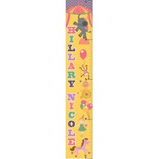 Retro Circus Girl Personalized Growth Chart