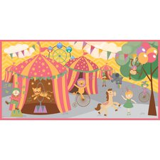 Retro Circus Girl Wall Mural