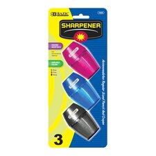 Single Hole Sharpener with Receptacle (Set of 3)