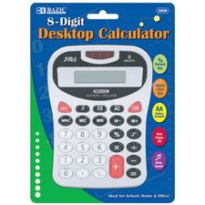8-Digit Silver Desktop Calculator with Tone (Set of 48)
