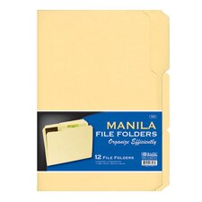 12 Ct. Letter Size Manila File Folders (Set of 48)