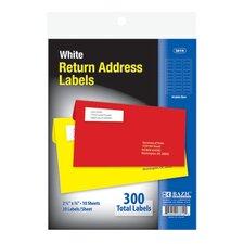 White Return Address Labels