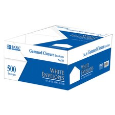 500 Ct. White Envelopes With Gummed Closure