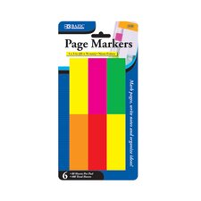 Neon Page Markers (Set of 6)