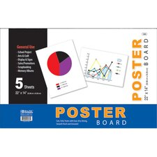 White Poster Board (Set of 48)