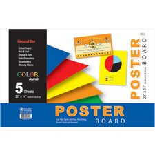 Assorted Color Poster Boards (Set of 5)