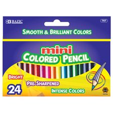 <strong>Bazic</strong> 24 Mini Color Pencil Set