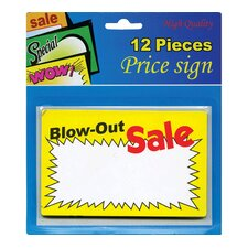 12 Ct. Blow-Out Sale Price Sign (Set of 24)