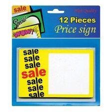12 Ct. Sale Price Sign (Set of 24)